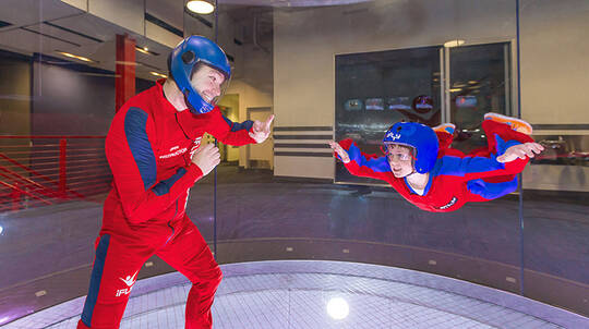 Group Indoor Skydiving Package - 10 Flights - Weekend