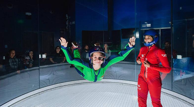 Group Indoor Skydiving Package - 10 Flights - Weekend