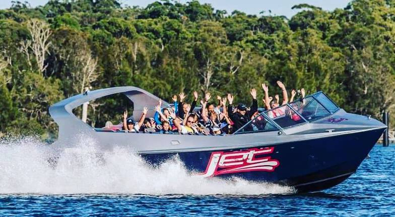 Jetbuzz watersports group jet boat lake Macquarie