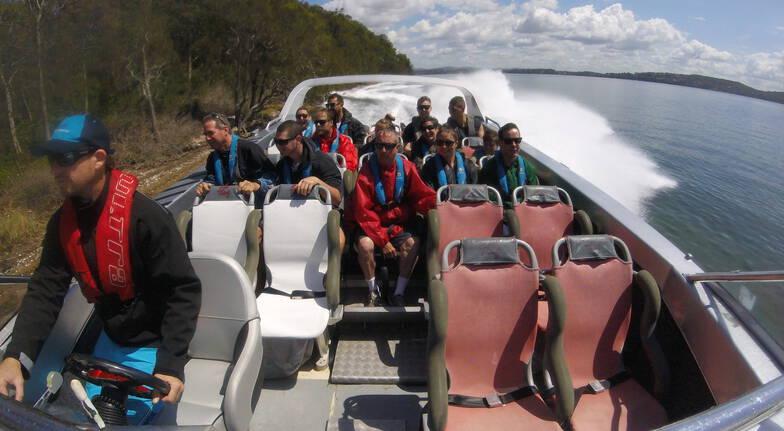 ocean jet boat ride lake macquarie