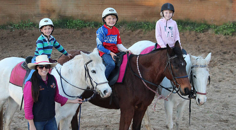 Kids Group Horse Riding Lesson and Ride - For 5