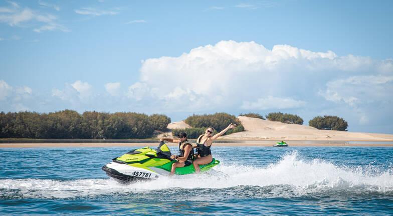 Jet Ski Ride to Stradbroke Island Plus Jet Boating - For 2