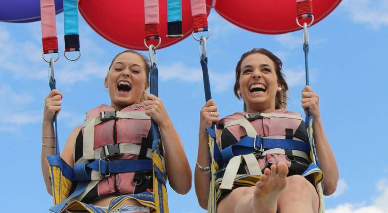Solo Parasail over the Gold Coast
