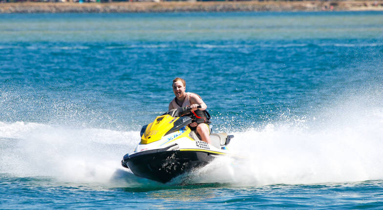 Gold coast watersports man on jet ski main beach