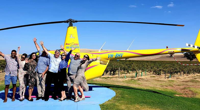Barossa Valley Wine Tour with Lunch and Helicopter Flight