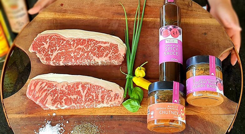 Sunset Premium Wagyu BBQ Dinner with Wine  For 2