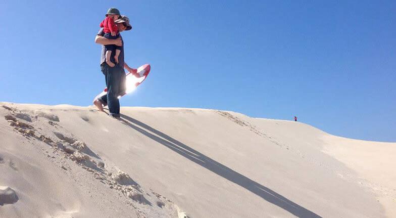 Sandboard or Toboggan Hire - 2 Hours