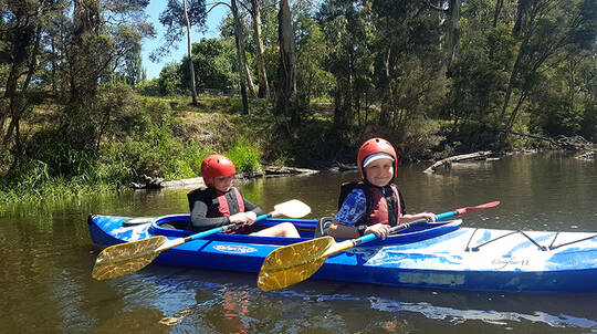 School Holiday White Water Kayaking and Abseiling for Kids
