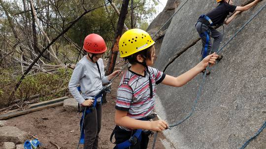 School Holiday Rock Climbing and Abseiling for Kids