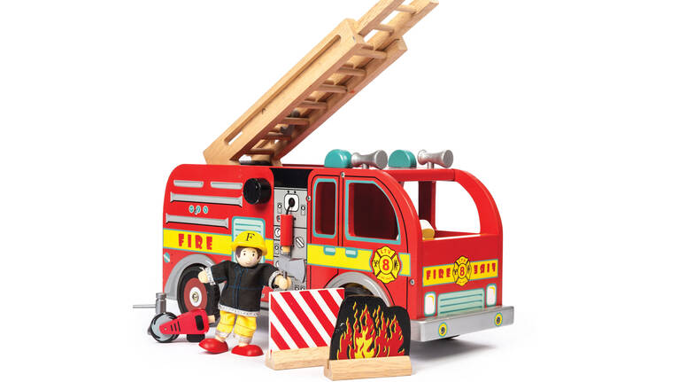 Toy Fire Engine Set