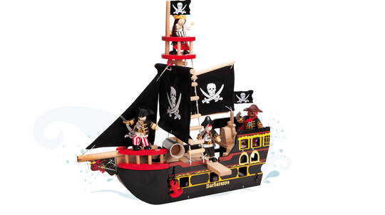Wooden Barbarossa Pirate Ship
