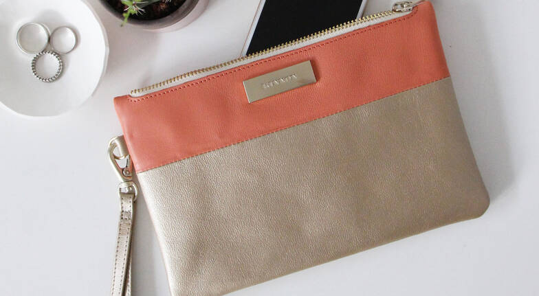 Soho Leather Clutch Bag - Various Colours