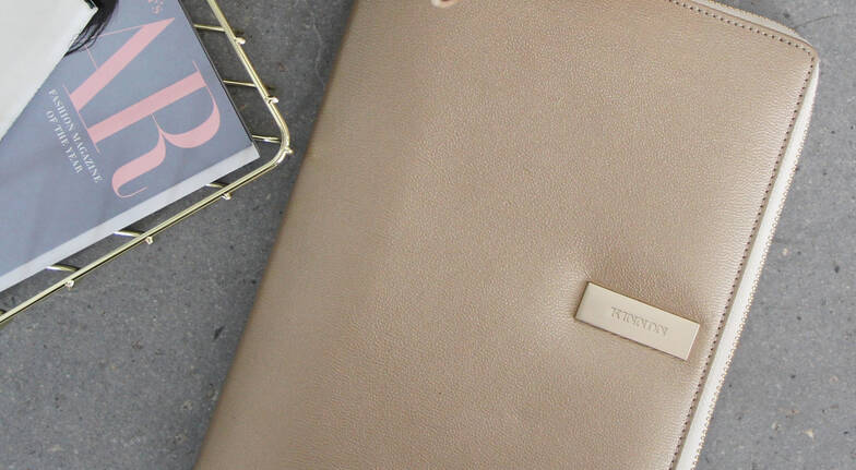 Women's Leather A5 Folio and Notebook - Various Colours