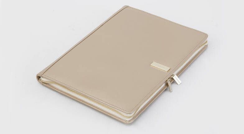 Women's Leather A4 Folio with Notebook - Various Colours