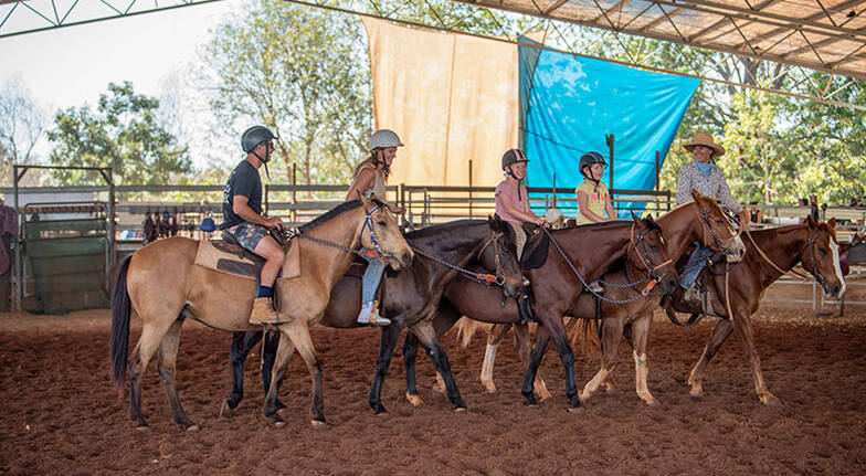 Group Outback Horse Riding Lesson - 1 Hour