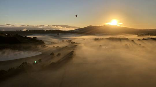 Hot Air Balloon Flight Over Northern Tasmania