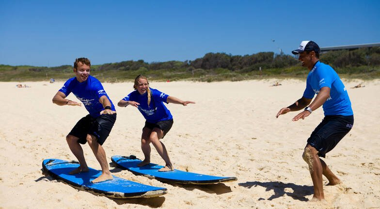 Private Family Surf Lesson in Byron Bay