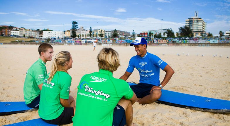 Beginners Group Surfing Lesson at Bondi Beach