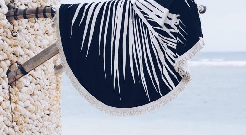 Designer Round Maui Beach Towel
