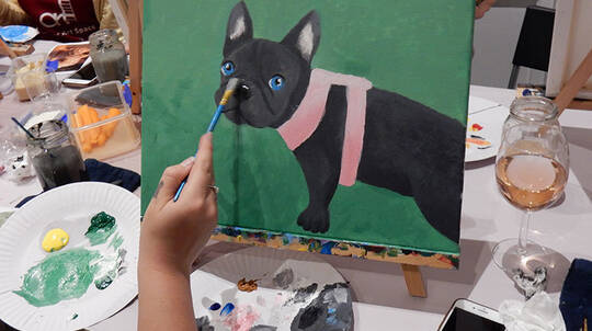 3 Hour Paint Your Pet and Sip Class