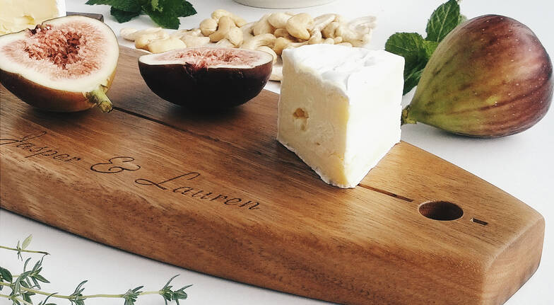 Personalised Australian Hardwood Longboard Serving Platter