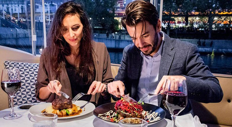 90 Minute Private Yarra River Dinner Cruise  For 2