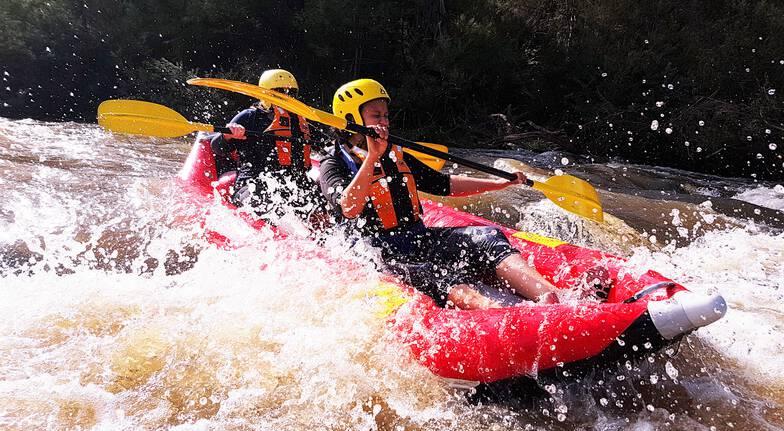 white water kayaking along the yarra river