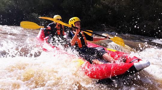 Winter White-Water Kayaking
