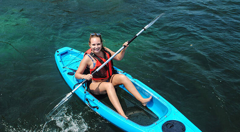 4 Hour Single Clearview Kayak Hire  For 2