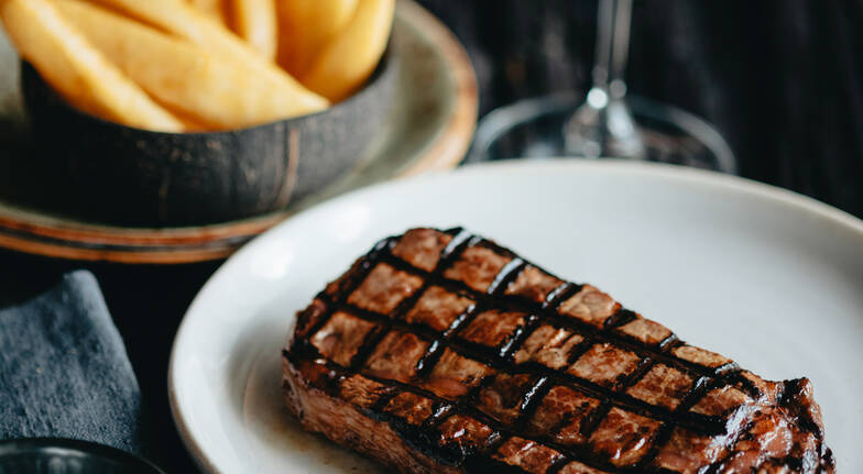 3 Course Steakhouse Dinner with Wine  Southbank  For 2