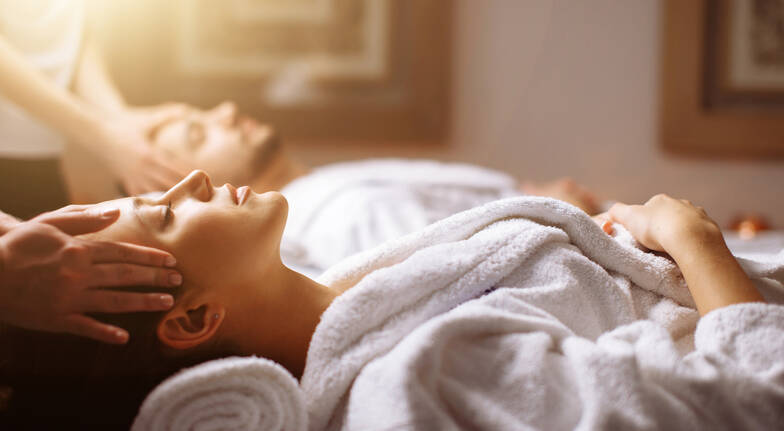 Couples Spa Facial or Full Body Massage with Sparkling Wine
