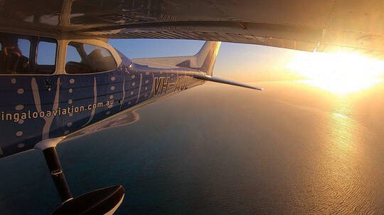 Ningaloo Reef Private Sunset Flight - 60 Minutes - For 3
