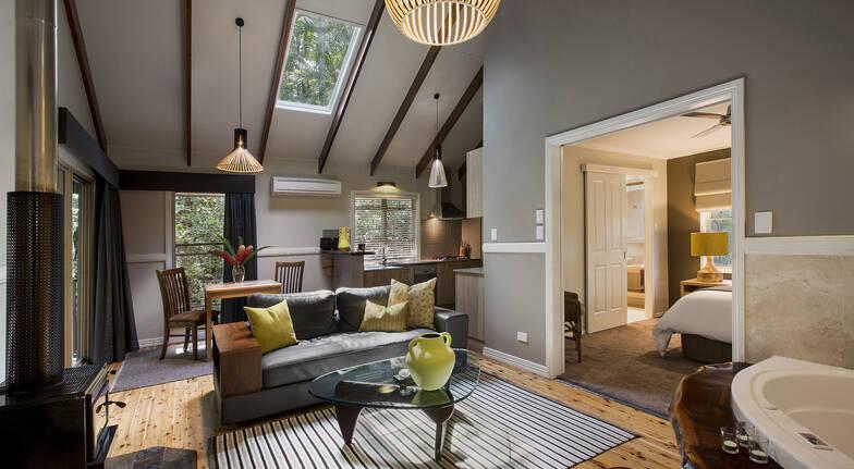 Narrows Escape Rainforest Retreat luxury pavillion room