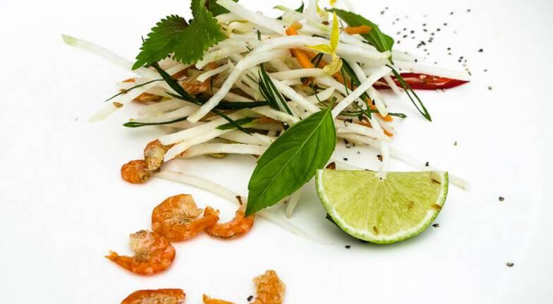 Otao kitchen food ingredients for balinese salad