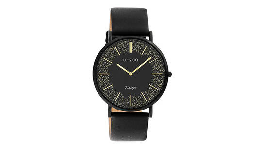 OOZOO C20132 Vintage Watch with Leather Strap