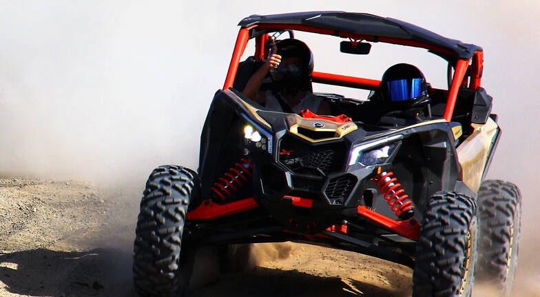 Can-Am Maverick X3 pair off road driving