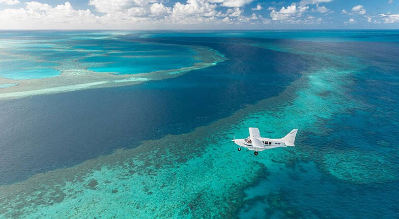 Whitsundays Scenic Flight, Rafting and Snorkelling- Full Day