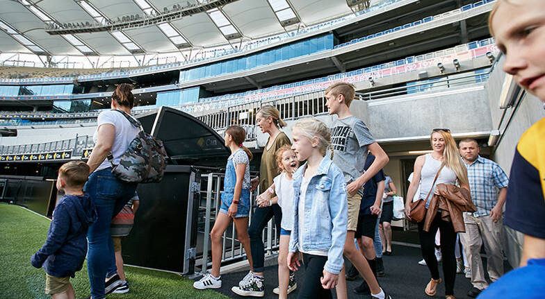 90 Minute Optus Stadium Tour with Cafe Lunch and Drink