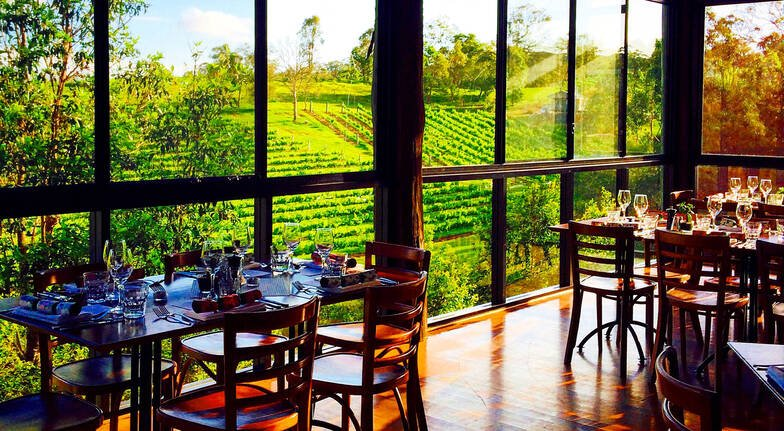 ocean view estates restaurant with vineyard views