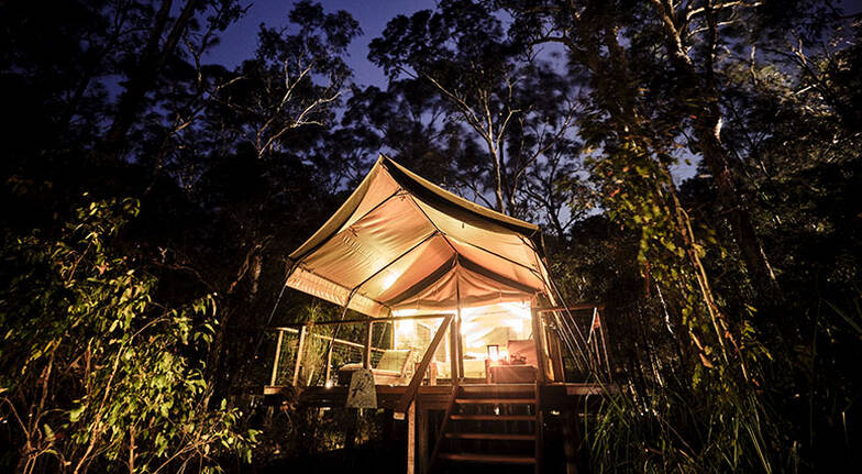 Midweek Glamping with Breakfast and Dinner  1 Night