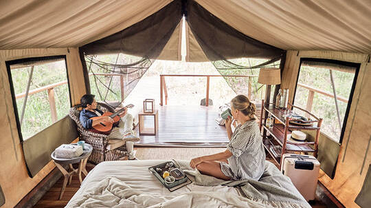 2 Nights Deluxe Glamping with Breakfast and Dinner - Midweek