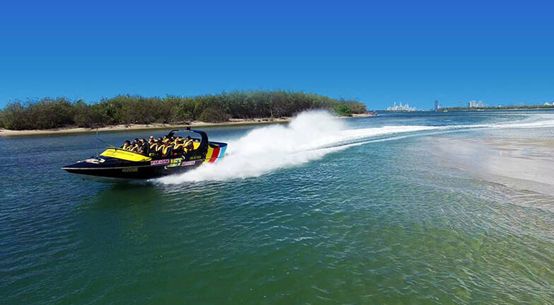 Gold Coast Hot Air Balloon and Jet Boat Adventure Combo