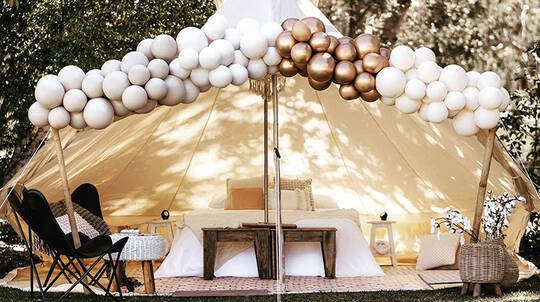 2 Night Glamping Tent Hire - For 2