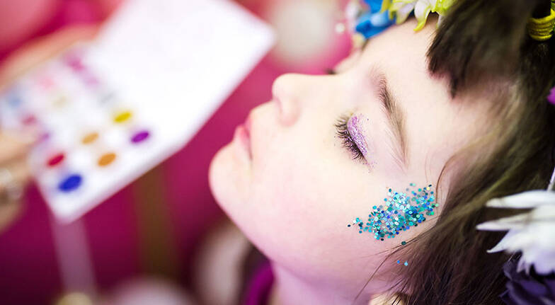 Kids Glitter Makeover with Manicure Pedicure and More