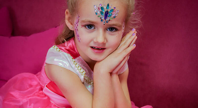 Kids Princess Makeover with Facial Manicure and More