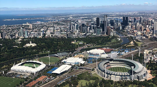 Helicopter Flight Over Melbourne Front Seat Guarantee-30 Min
