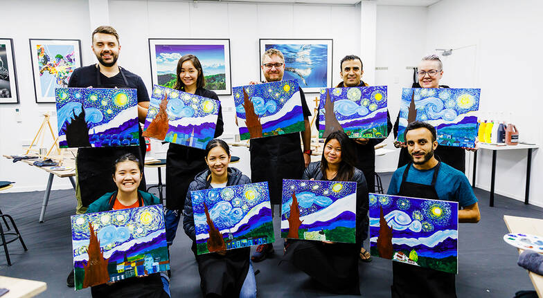 Paint and Wine Class - 3 Hours