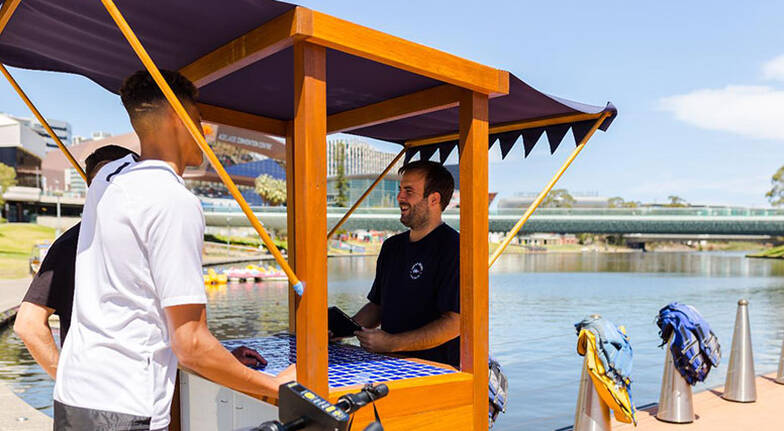 River Torrens Paddleboat Hire  30 Minutes  For 2
