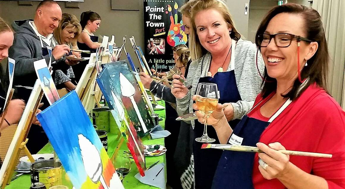 Private Paint and Wine Class - For up to 10