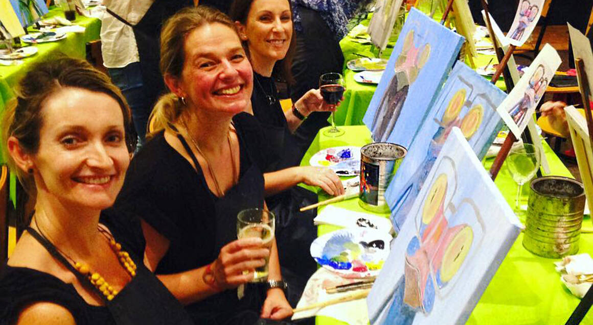 Private Paint and Wine Class - QLD - For 10